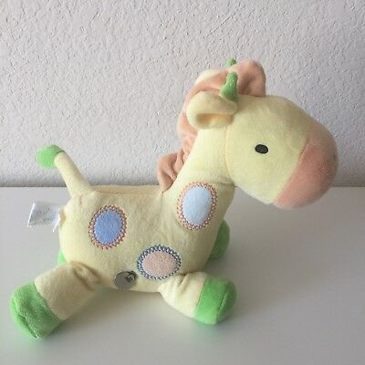 CARTERS Child of Mine Wind Up Musical Giraffe Lovey Plush Toy Polka Dots
