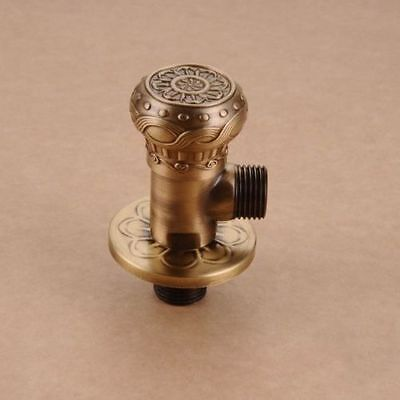 Antique Brass Angle Stop Valve Shut Off Water Triangle Valve For Faucet & Toilet