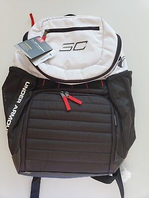 Under Armour SC30 Undeniable Backpack White Black NWT 99cb805b1cad8