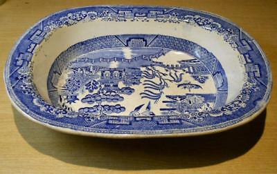 Antique Blue Willow Platter 13 1/4 in.