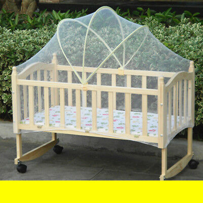 Baby Cradle Crib Arched Mosquito Net Tent Canopy Anti Bug Mesh Curtain Bedcover
