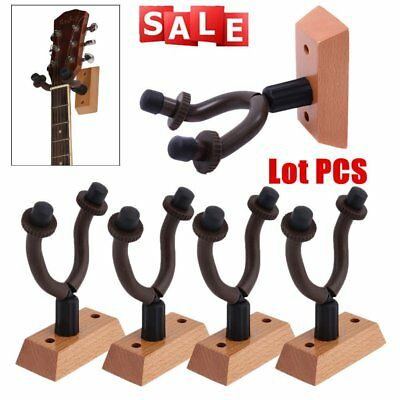 LOT PCS Guitar Hangers Hook Holder Wall Mount Display Instrument For All Size