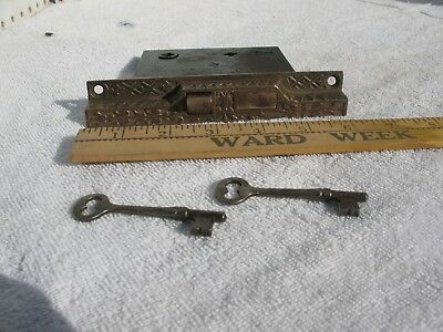 Antique Corbin Door Lock with Keys