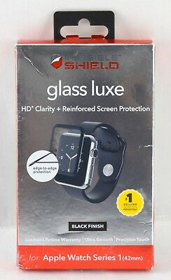 ZAGG - InvisibleShield Glass for Apple Watch Series 1 42mm | A42BGS-BK0 | 3655sw