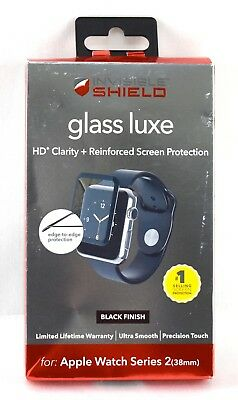 ZAGG - InvisibleShield Glass for Apple Watch Series 2 38mm | W38BGS-BK0 | 3657sw