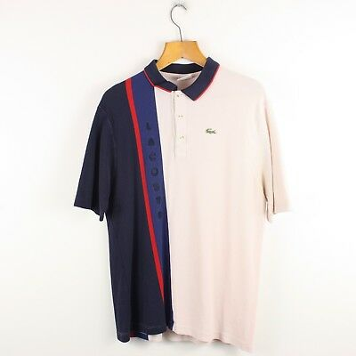 Vintage LACOSTE Two Tone Polo Shirt Top | Retro Classic Sport | XL '7'