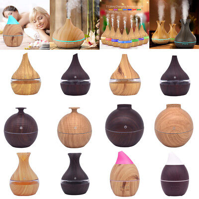 LED Ultrasonic Aroma Essential Oil Air Aromatherapy Diffuser Humidifier Purifier