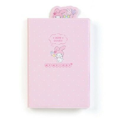 New My Melody Date Book with Bookmark and Sticker Schedule A6 size Diary 2019