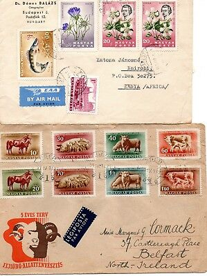 7 Hungary postal covers 1950s onwards, mainly fdc