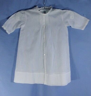 ANTIQUE BABY GOWN Linen NIGHTDRESS Handmade PINTUCKS, EMBROIDERY Superb   R5