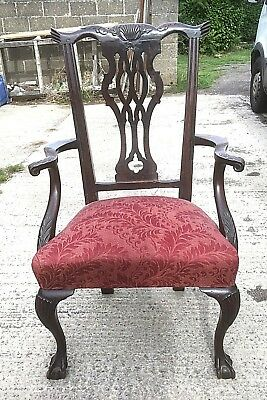 Georgian Mahogany Country Chippendale Armchair