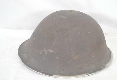 "ORIGINAL ~ WWII ~ British MK2 ~ HELMET ~ 11"" wide 12"" long 6"" tall ~ strap"