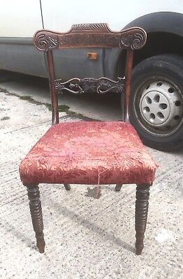 Single Regency Dining Chair For Restoration