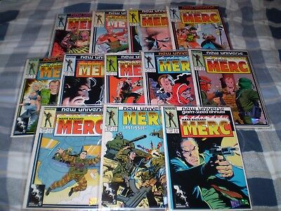 Mark Hazzard: Merc #1 - 10, 12 & Annual #1 - New Universe / Marvel