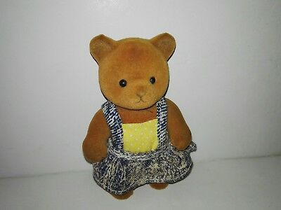 Forest Families Bear with yellow suit with dress (Barenwald Sylvanian Families)
