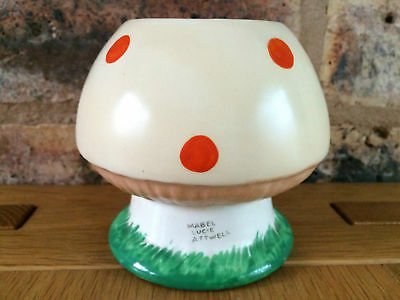 Rare Shelley Pottery 1926 Art Deco Mabel Lucie Attwell Boo Boo Mushroom Bowl