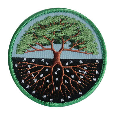 """NEW Tree of Life Embroidered Patch 3"""" Sew-On Pagan Fabric Patch"""