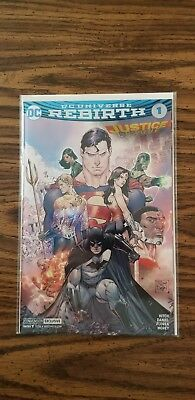 Justice League Rebirth #1 Foil Cover Variant SDCC exclusive near mint.