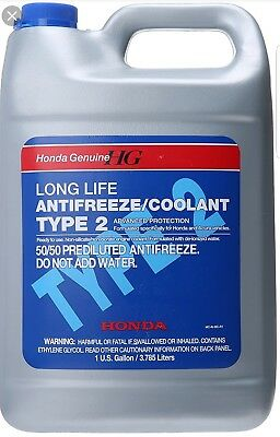 For Honda Acura Sterling 1 Gallon Engine Coolant Antifreeze Type 2 Blue Genuine