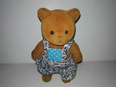 Forest Families Bear with blue suit with dress (Barenwald Sylvanian Families)