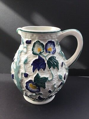 H. J. Wood Staffordshire Persian Blue  Indian Tree Jug Pitcher Handpainted 21cm