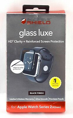 ZAGG - InvisibleShield Glass for Apple Watch Series 2 42mm | W42BGS-BK0 | 3662sw