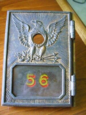 Vintage post office box door (Circa) 1892-1895 Federal Eagle Numbered