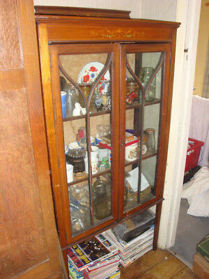Antique Glass Display Cabinet - For Restoration