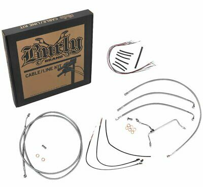 Burly B30-1165 Cable and Brake Line Kits Stainless Braid 16in. Gorilla Bars
