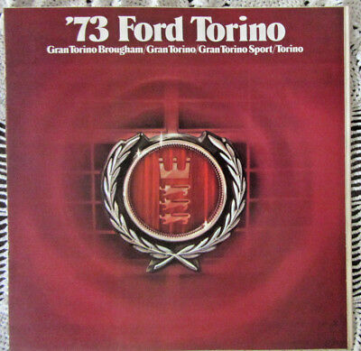"""1973 Ford """"torino"""" Color Sales Brochure-14 Pgs-All Torino Models"""