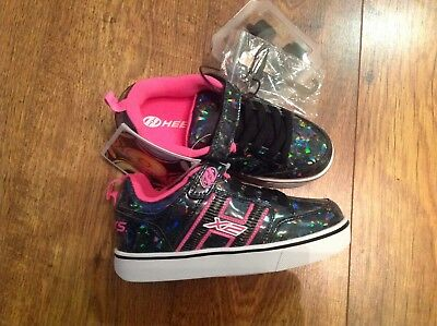 GENUINE Heelys Bolt Plus X2 Black Hologram/Pink