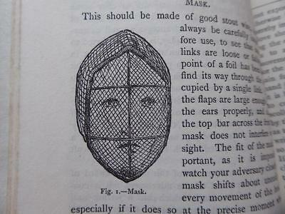 Specialist Book On Fencing 1924 Rare Book Masks Stance Skills Protection Victory