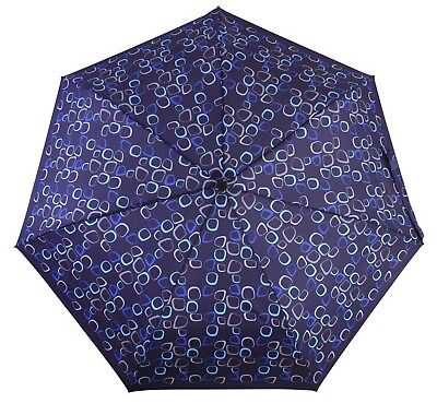 DERBY Hit  Automatic Folding Telescopic Umbrella Amalia Blue