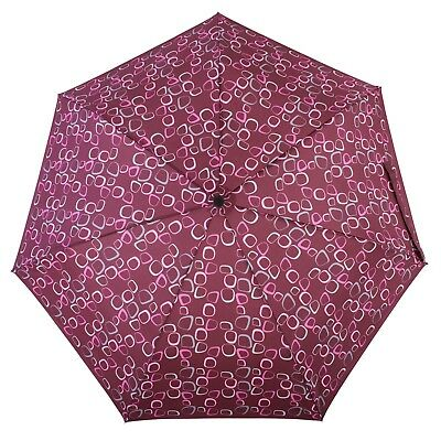DERBY Hit  Automatic Folding Telescopic Umbrella Amalia Red