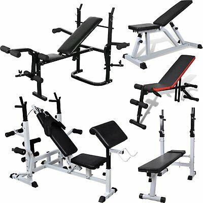 Adjustable Folding Weight Bench Home Gym Workout Fitness Sports Sit Up Bench