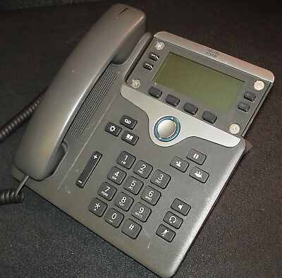 CISCO 7841 VoIP IP LCD Display Phone CP-7841-K9 w/ Handset & Cord