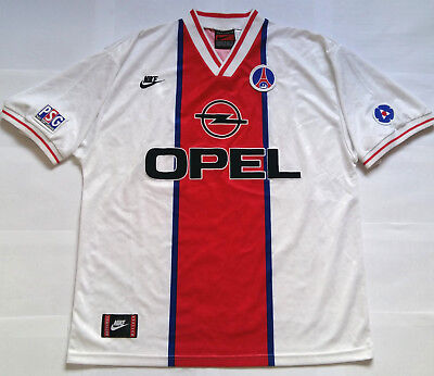 PARIS SAINT-GERMAIN PSG 1996 OPEL Vintage NIKE Away Shirt Jersey Maillot 1995