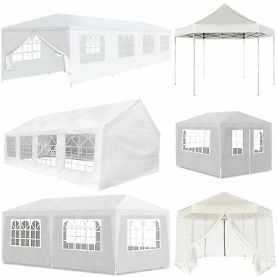 Gazebo Marquee Party Tent Outdoor Garden Patio Pop Up Canopy Pavilion White