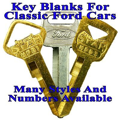 Select-A-Key: Key Blanks For Vintage & Classic Ford Cars - Many Styles & Numbers