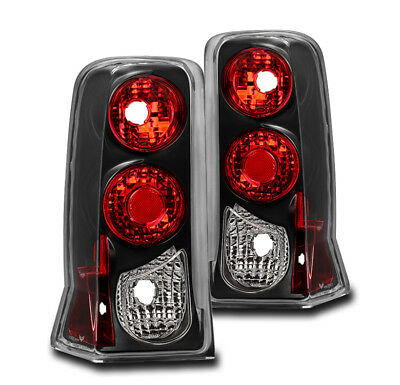 For 2002-2006 Cadillac Escalade Esv Tail Brake Light Rear Lamp Black Left+Right