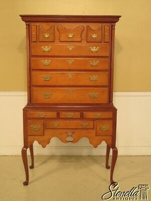 43082: HICKORY CHAIR CO. Queen Anne Maple New England Highboy ~ NEW