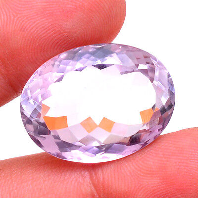 VVS 38.00 Ct Certified Natural Huge Untreated Amethyst Oval Faceted Cut Gemstone