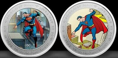 2013 SUPERMAN 75th – THEN & NOW 50 Cent Lenticular Coin & Stamp Set