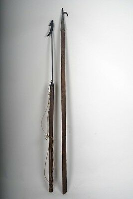 """Two 60-66"""" nautical decor items:  Whaling Harpoon & Boat Hook"""