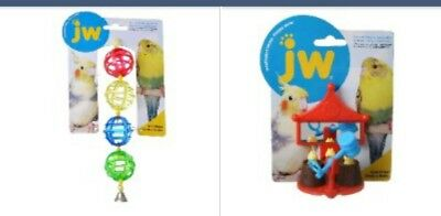 "Jw Pet Activitoys Peck-a-mole Plastic Bird Toy 3"" Wide X 4"" and Lattice Chain"
