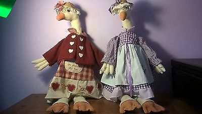 2 Collectable Goose Dolls – Polyester/Cotton New with tags