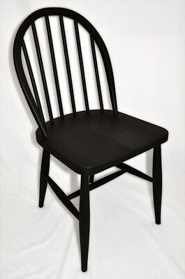 Vintage retro 40's 50's Ercol ercol early CC41 utility chair in black finish