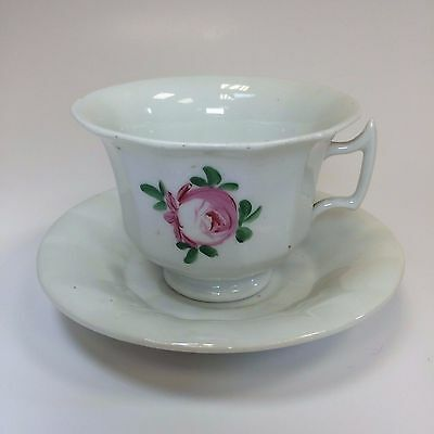 Antica Tazza da The con Piattino Tasse Soucoupe Porcellana -  Fine '800 Francia