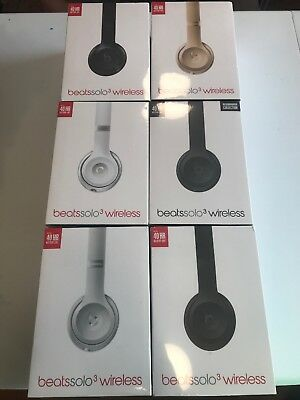 New Sealed Beats by Dr. Dre Solo3 Wireless Bluetooth Headphones  Multiple Colors