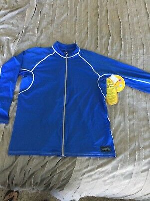 DUCKSKINZ UV @ H2O ARMOR Blue Long Sleeve Unisex Full Zip 2XL Jacket NWT